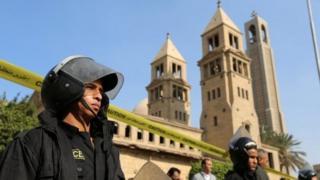 โบสถ์ที่เกิดเหตุในอียิปต์