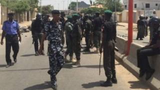 Nigeria Police on duty