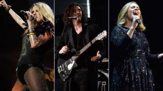 Ke$ha, Hozier and Adele