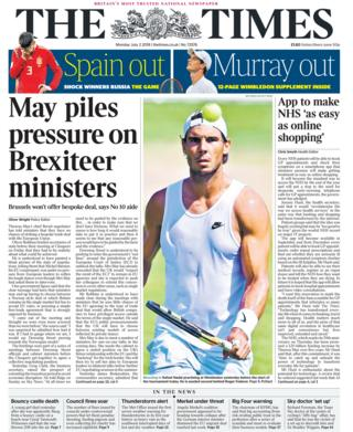 Times front page - 02/07/18