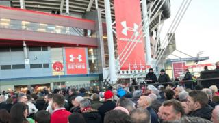 Fans at the Principality Stadium