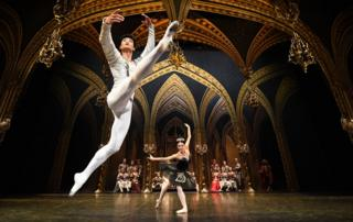 South Korean dancer Kimin Kim from the St. Petersburg Ballet Theatre group performs.