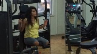 Lisa Calan in gym