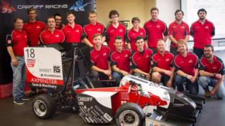 Cardiff Racing proudly show off 'Nella' - their Formula Student car