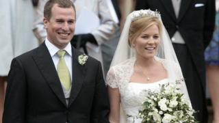 Peter Phillips and his wife Autumn on their wedding day