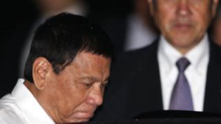 Presiden Duterte mendarat di Bandara Internasional Haneda, Tokyo.