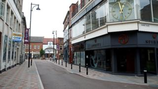 A view of an empty street, following a local lockdown imposed amid the coronavirus disease (COVID-19) outbreak, in Leicester
