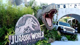 """A general view is shown at the premiere of Universal Pictures and Amblin Entertainment's """"Jurassic World: Fallen Kingdom"""""""