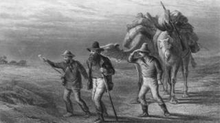 Robert Burke, William Wills ve John King 1861'de Avustralya'nın iç bölgelerini keşfe çıkıyor