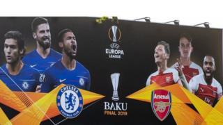 Баку, плакат финала Лиги Европы
