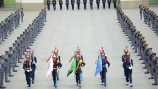 Formatura da turma de cadetes de 2018, em 1º de dezembro, na qual Bolsonaro compareceu