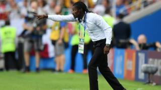 Senegal coach Aliou Cisse on the touchline