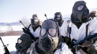 Войска НАТО проводят учения в Норвегии в 1984 году