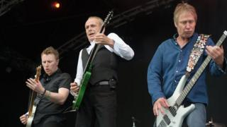 Status Quo perform at the BMW PGA Championship at Wentworth on May 27, 2017 in Virginia Water, England.