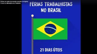 Trecho de vídeo que compara férias no Brasil com outros países