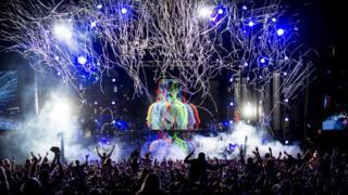 Tiësto performing at Radio 1's Big Weekend