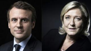 Emmanuel Macron (ibumoso) yafashwe nk'uwitwaye neza mu kiganiro mpaka cyabanje