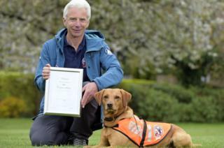 Dog gets award