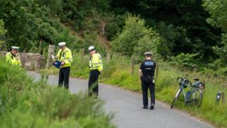 Scene where cyclist found injured