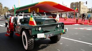 Célébration de la fête de l'indépendance, le 4 avril 2016, à la place de la Nation à Dakar.