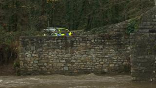 Police are conducting searches along the River Ogmore