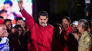 नेशनल असेंबली के नतीजों में जीत के बाद वेनेजुएला के राष्ट्रपति निकोलस मदुरो
