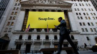 Snapchat at the New York stock exchange