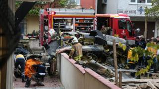 Helicopter crash in Istanbul