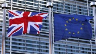 Union and European flag