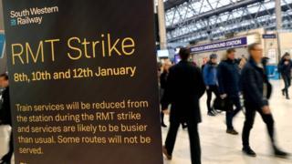 RMT strike sign