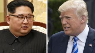 Rais Kim Jong-Un na Rais Donald Trump