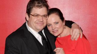 Comedian Patton Oswalt with his late wife Michelle McNamara in 2011
