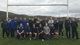 Swedish rugby team at Nantgaredig RFC