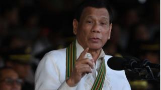 TT Philippines Rodrigo Duterte phát biểu trong lễ kỷ niệm 121 năm ngày thành lập quân đội Philippines tại trụ sở quân đội ở Manila hồi 20/3/2018.