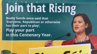 Mary Lou McDonald campaign leaflet