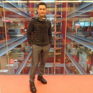 吕良伟做客伦敦BBC总部大楼(摄影:子川)