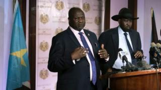 Salva Kiir iyo Machar