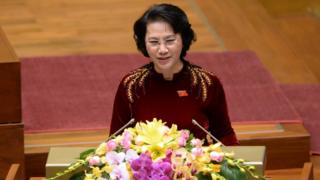 Vietnam national assembly chairwoman Nguyen Thi Kim Ngan
