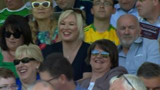 Arlene Foster at GAA match