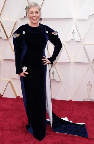 Olivia Colman sur le tapis rouge