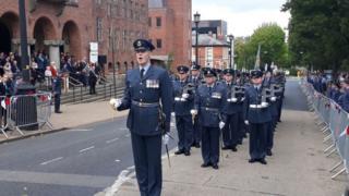 RAF Cosford marches through Dudley