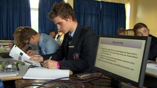 Pupils in RE lesson