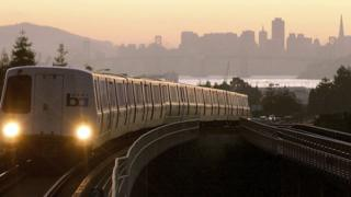 Bart train in San Francisco