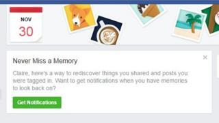 Facebook memory settings