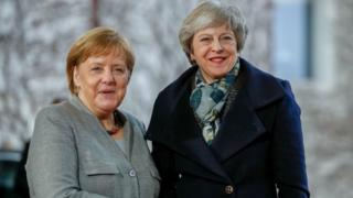 Angela Merkel with Theresa May, pictured in December 2018