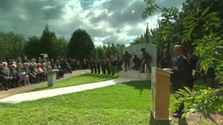 ceremony at the National Memorial Arboretum