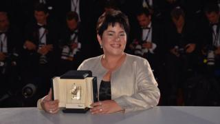 Jaclyn Jose poses with her prize