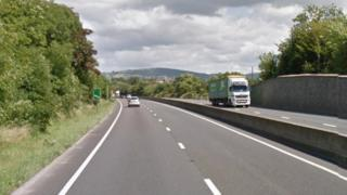 A section of the A55