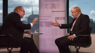 Boris Johnson faced Andrew Neil during the Conservative leadership election