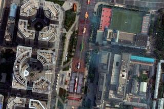 Maxar's WorldView-2 satellite captured images of the National Day Parade in Beijing